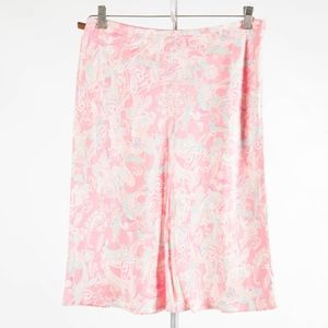 ANN TAYLOR – Gorgeous Pink Paisley Silk Skirt – 6